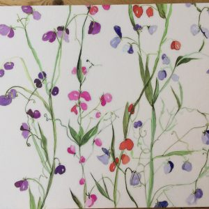 Placemat with Sweet Pea Design