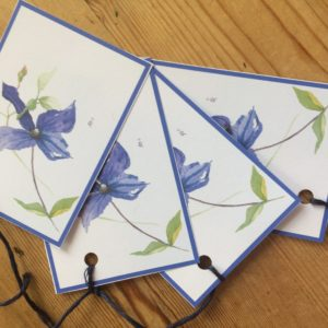 Clematis Gift tag