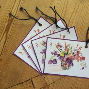 Autumn Flowers Gift Tag