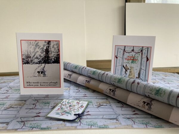Christmas cards and paper